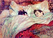 Henri De Toulouse Lautrec The Bed Le Lit canvas prints