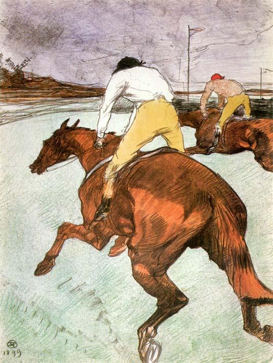 Henri de Toulouse Lautrec The Jockey stretched canvas art print