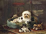 Henriette Ronner Knip Playful Puppies canvas prints