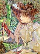 Henri de Toulouse Lautrec Woman with Gloves Honorine Platzer