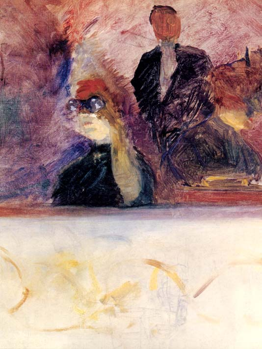 Henri de Toulouse Lautrec Theater Box with the Gilded Mask stretched canvas art print
