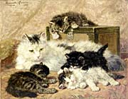 Henriette Ronner Knip Remembrance of Happy Days