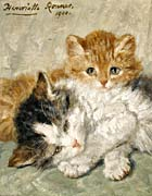 Henriette Ronner Knip Sleepy Kittens canvas prints