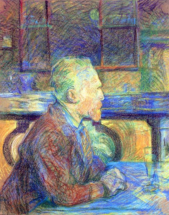 Henri de Toulouse Lautrec Vincent Van Gogh stretched canvas art print