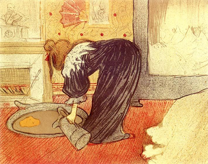Henri de Toulouse Lautrec Woman at the Tub stretched canvas art print