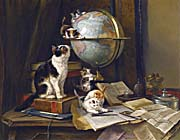 Henriette Ronner Knip The Globetrotters