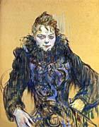 Henri De Toulouse Lautrec Woman with a Black Boa