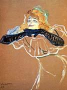 Henri de Toulouse Lautrec Yvette Guilbert Singing Linger Longer Loo