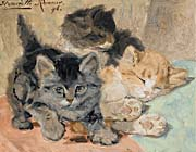 Henriette Ronner Knip Three Kittens