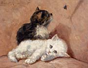 Henriette Ronner Knip Two Kittens