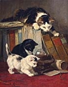Henriette Ronner Knip Watching the Prey