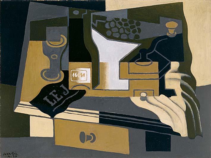 Juan Gris Coffee Grinder stretched canvas art print