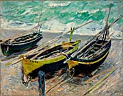 Claude Monet Three Fishing Boats canvas prints