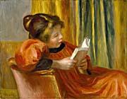 Pierre Auguste Renoir Girl Reading canvas prints