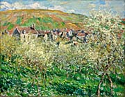 Claude Monet Flowering Plum Trees canvas prints