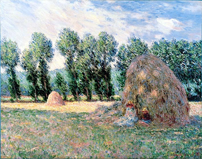 Claude Monet Haystacks stretched canvas art print