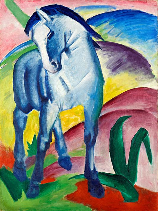Franz Marc Blue Horse 1 stretched canvas art print