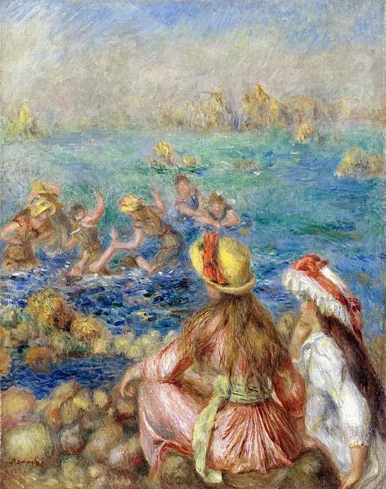 Pierre Auguste Renoir Baigneuses stretched canvas art print