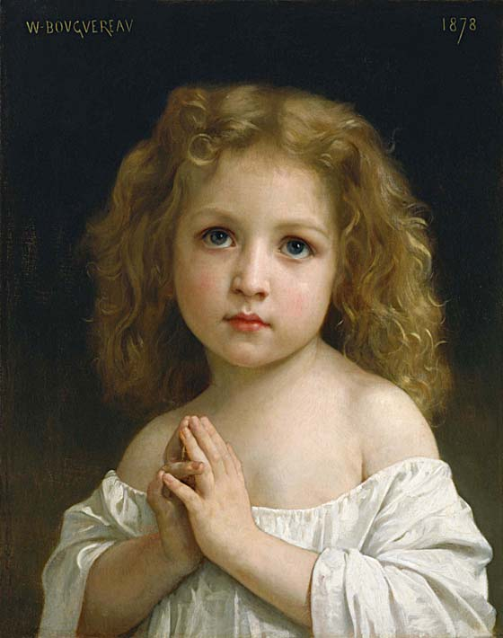 William Bouguereau Little Girl stretched canvas art print