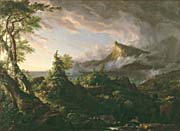 Thomas Cole The Course Of Empire The Savage State canvas prints