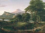 Thomas Cole The Course Of Empire The Arcadian Or Pastoral State canvas prints