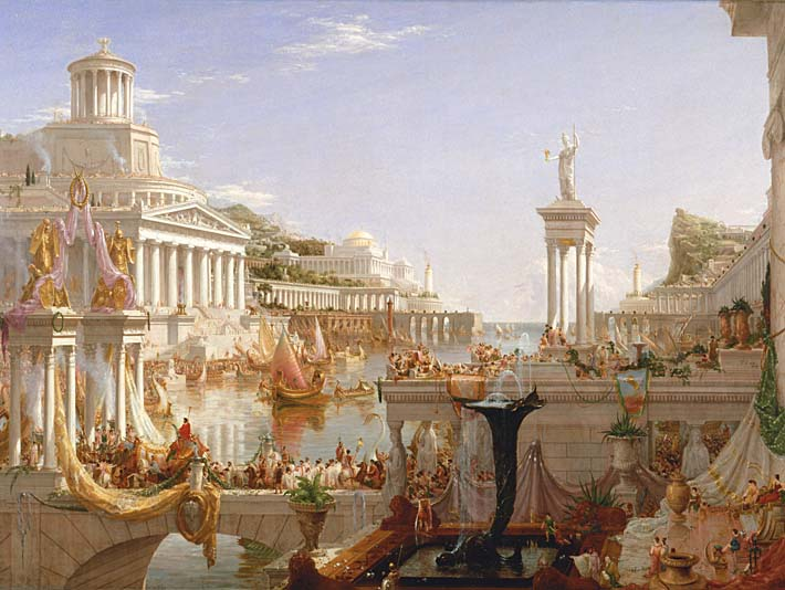 Thomas Cole The Course of Empire The Consummation of Empire stretched canvas art print