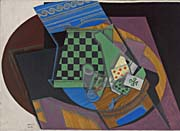 Juan Gris Checkerboard And Playing Cards canvas prints