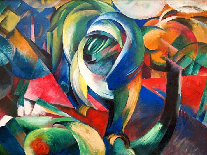 Franz Marc The Mandrill stretched canvas art print