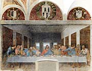 Leonardo Da Vinci The Last Supper (with Monastery Arches)