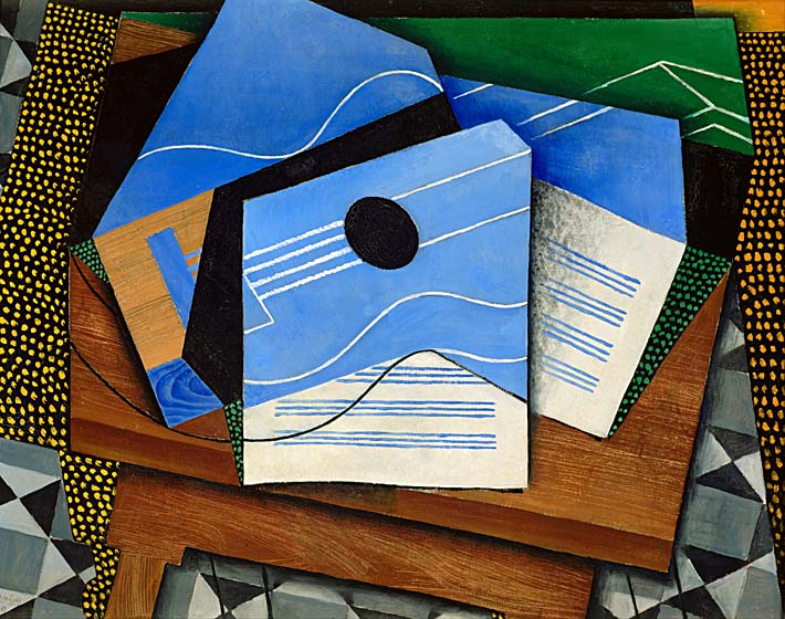 Juan Gris Guitar on a Table stretched canvas art print