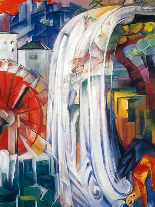 Franz Marc The Bewitched Mill stretched canvas art print
