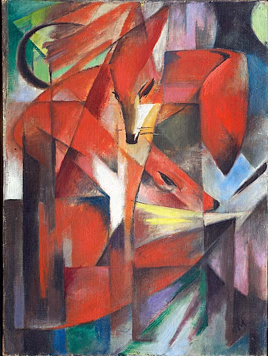 Franz Marc The Foxes stretched canvas art print