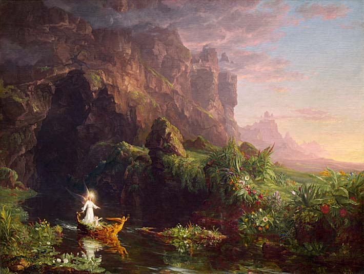 Thomas Cole Voyage of Life: Childhood 1842 stretched canvas art print