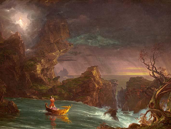 Thomas Cole Voyage of Life: Manhood 1842 stretched canvas art print