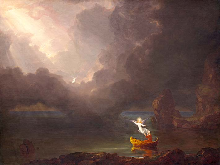 Thomas Cole Voyage of Life: Old Age 1842 stretched canvas art print