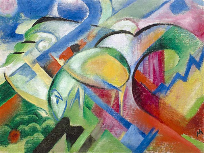 Franz Marc The Sheep stretched canvas art print