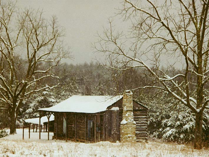 Ray Porter Cabin in the Woods stretched canvas art print