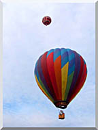 Brandie Newmon Hot Air Balloons stretched canvas art