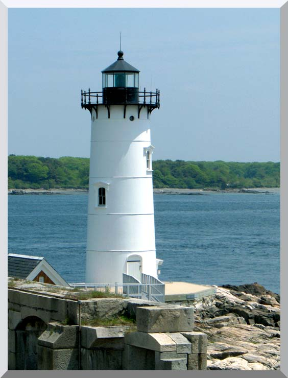 Brandie Newmon Portsmouth Harbor Lighthouse, New Hampshire stretched canvas art print