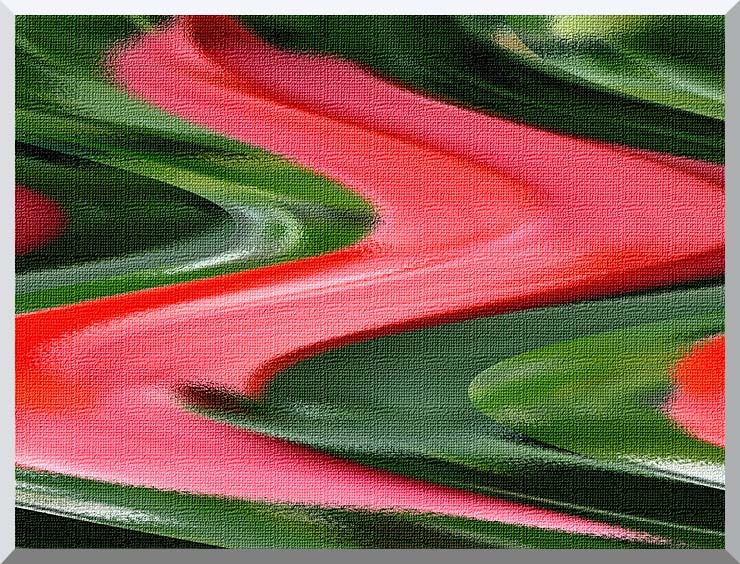 Brandie Newmon Red and Green Wet Paint stretched canvas art print