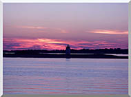 Brandie Newmon Provincetown Lighthouse At Dusk Massachusetts stretched canvas art