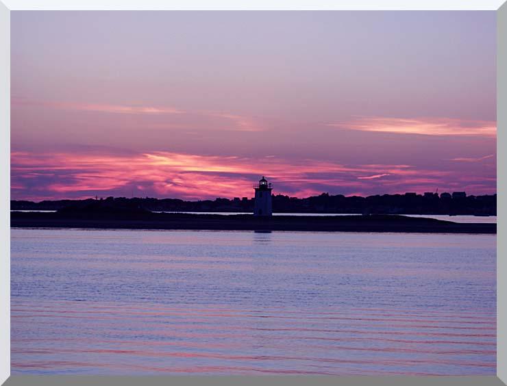 Brandie Newmon Provincetown Lighthouse at Dusk, Massachusetts stretched canvas art print