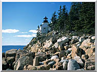 Brandie Newmon Bass Harbor Head Lighthouse stretched canvas art