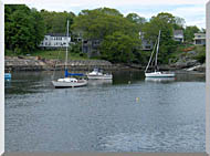 Brandie Newmon Fishing Boats In Ogunquit Maine stretched canvas art