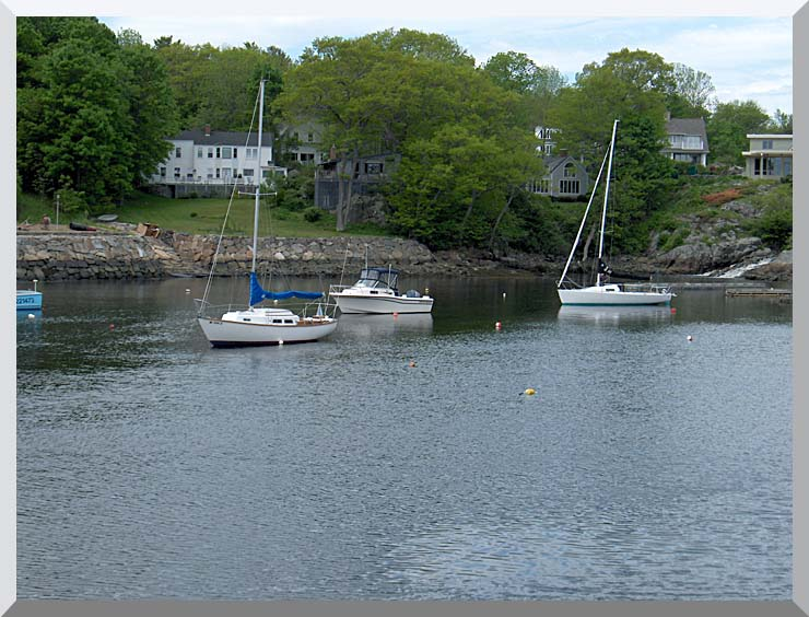 Brandie Newmon Fishing Boats in Ogunquit, Maine stretched canvas art print