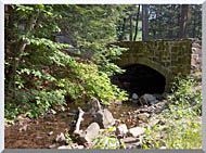 Brandie Newmon Rock Bridge At Mount Tom Massachusetts stretched canvas art