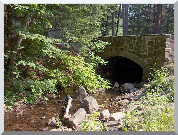 Brandie Newmon Rock Bridge at Mount Tom Massachusetts stretched canvas art print