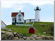 Brandie Newmon Cape Neddick Lighthouse York Maine stretched canvas art