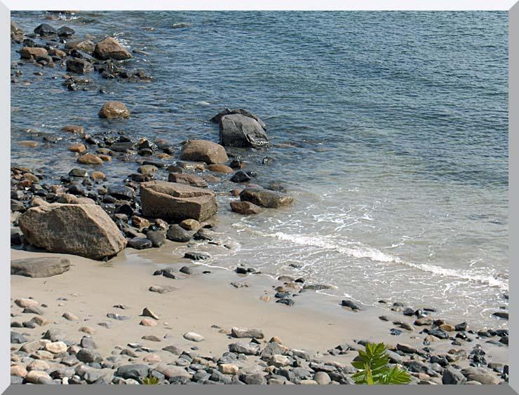Brandie Newmon Coastline in Ogunquit, Maine stretched canvas art print