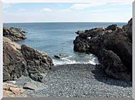 Brandie Newmon Rocks Along The Maine Coastline stretched canvas art